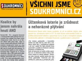 Další zpravodaj: Červenec pohledem Soukromníků