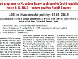 Ohlédnutí za 100 lety stavovské politiky